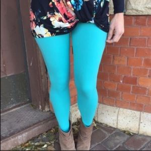Pants - Buttery Soft Teal Leggings